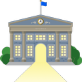 Government building illustration
